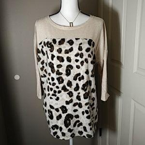 Style & Co. Leopard Jersey Top 3/4 sleeve Sz. XL